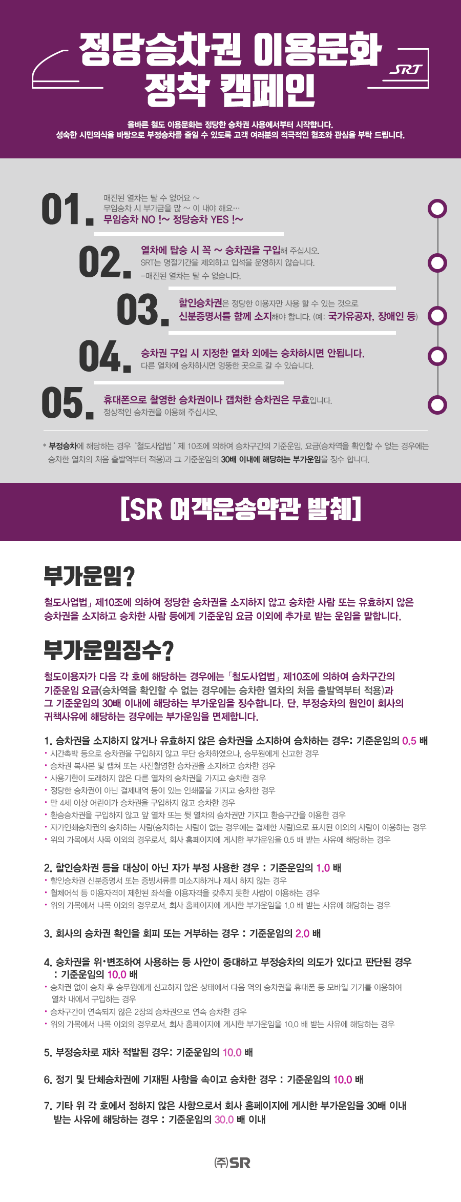 정당승차권 이용문화 정책캠페인